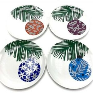 Crate and Barrel Christmas  ornament plates